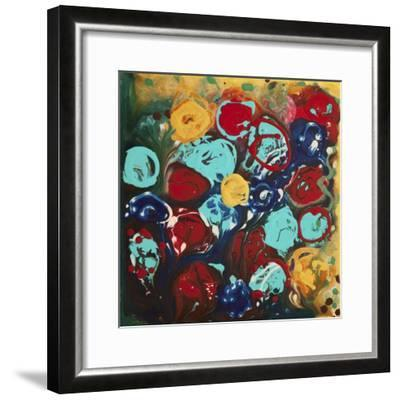 Abstract Flowers 3 - Canvas 3-Hilary Winfield-Framed Giclee Print