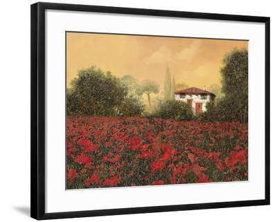 La Casa e i Papaveri-Guido Borelli-Framed Giclee Print
