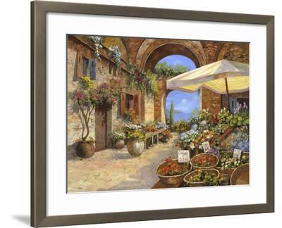 Il Mercato del Lago-Guido Borelli-Framed Giclee Print