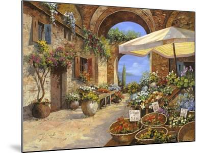 Il Mercato del Lago-Guido Borelli-Mounted Giclee Print