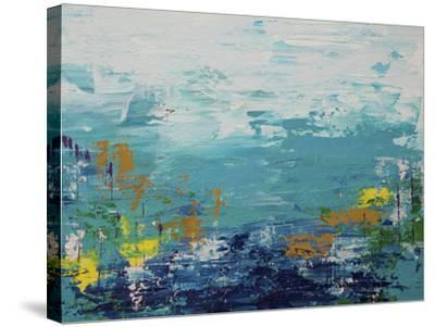 Blue Lake-Hilary Winfield-Stretched Canvas Print