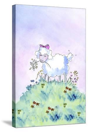 Birthday Lamb-Jennifer Zsolt-Stretched Canvas Print