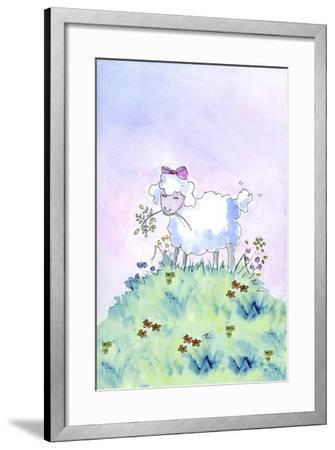 Birthday Lamb-Jennifer Zsolt-Framed Giclee Print