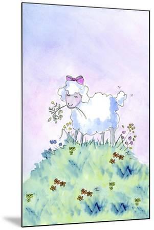 Birthday Lamb-Jennifer Zsolt-Mounted Giclee Print
