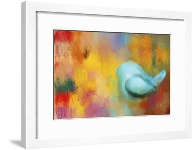 Abstract Bluebird of Happiness-Jai Johnson-Framed Giclee Print