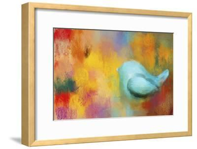 Abstract Bluebird of Happiness-Jai Johnson-Framed Giclee Print
