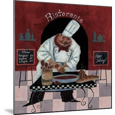 Chef Kitchen Menus-Gregg DeGroat-Mounted Giclee Print