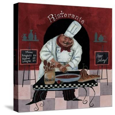 Chef Kitchen Menus-Gregg DeGroat-Stretched Canvas Print