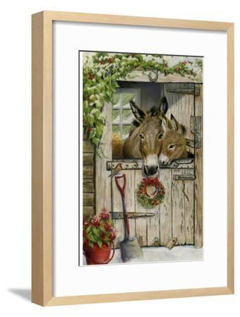 Christmas Donkies-Janet Pidoux-Framed Giclee Print