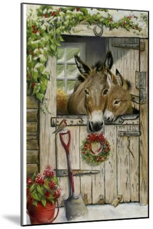 Christmas Donkies-Janet Pidoux-Mounted Giclee Print