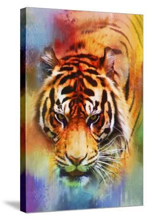 Colorful Expressions Tiger-Jai Johnson-Stretched Canvas Print