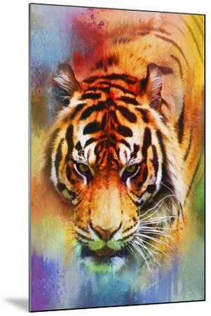 Colorful Expressions Tiger-Jai Johnson-Mounted Giclee Print