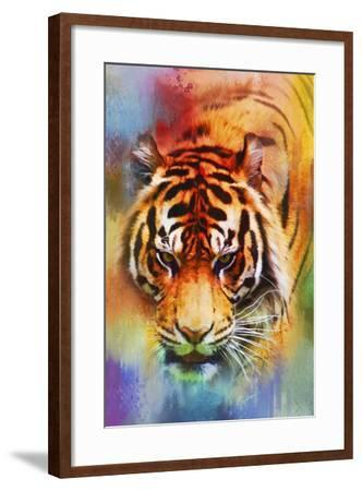 Colorful Expressions Tiger-Jai Johnson-Framed Giclee Print