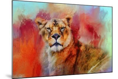 Colorful Expressions Lioness-Jai Johnson-Mounted Giclee Print