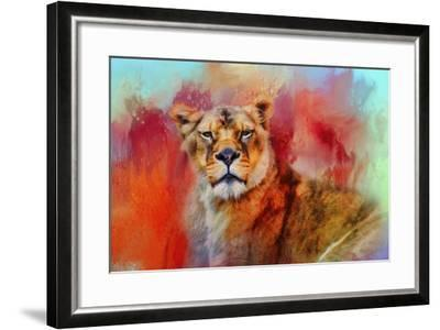Colorful Expressions Lioness-Jai Johnson-Framed Giclee Print