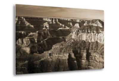 Sepia Grand Canyon 1-Gordon Semmens-Metal Print