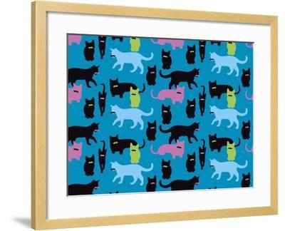 The Cats Meowstache-Joanne Paynter Design-Framed Giclee Print