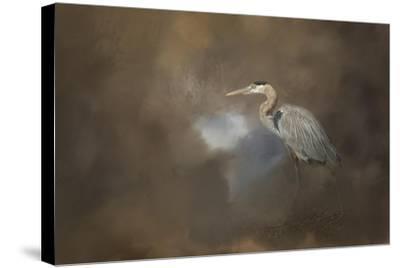 Walking into Blue-Jai Johnson-Stretched Canvas Print