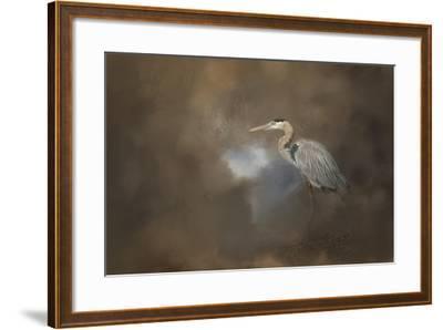 Walking into Blue-Jai Johnson-Framed Giclee Print