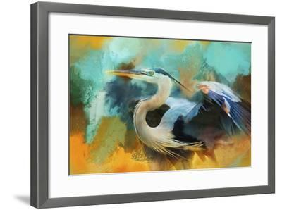Colorful Expressions Heron-Jai Johnson-Framed Giclee Print