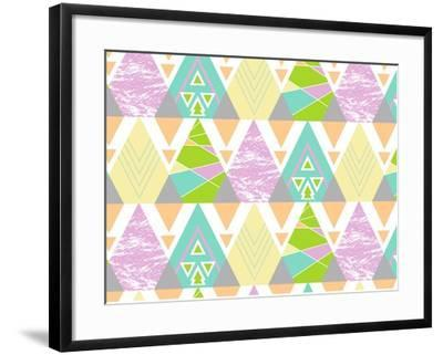 Tribal Triangles-Joanne Paynter Design-Framed Giclee Print