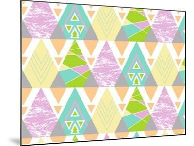 Tribal Triangles-Joanne Paynter Design-Mounted Giclee Print