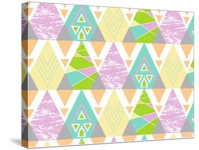 Tribal Triangles-Joanne Paynter Design-Stretched Canvas Print
