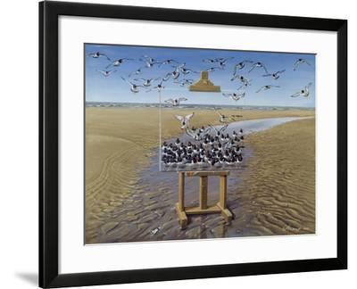 Oyster Catchers-Harro Maass-Framed Giclee Print