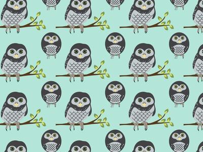 Baby Owls-Joanne Paynter Design-Framed Giclee Print