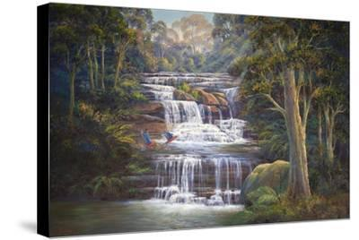 Queen's Cascades-John Bradley-Stretched Canvas Print