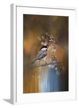 Chickadee in the Garden-Jai Johnson-Framed Giclee Print