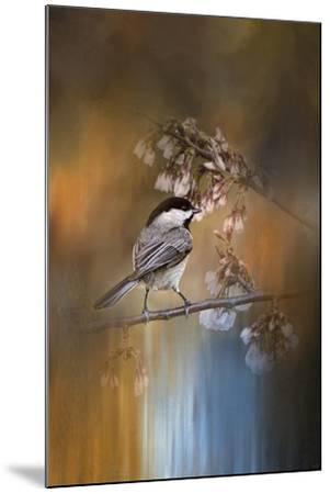 Chickadee in the Garden-Jai Johnson-Mounted Giclee Print