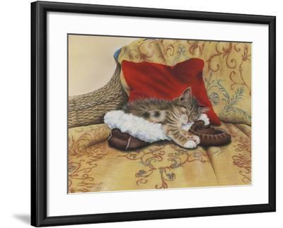 Comfy Slipper-Janet Pidoux-Framed Giclee Print