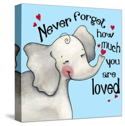 Never Forget Elephant-Jennifer Nilsson-Stretched Canvas Print