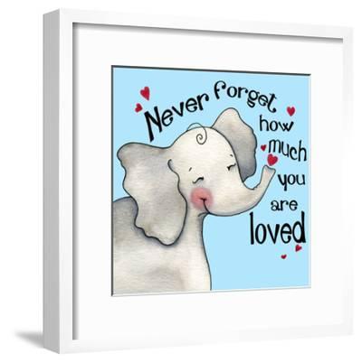 Never Forget Elephant-Jennifer Nilsson-Framed Giclee Print