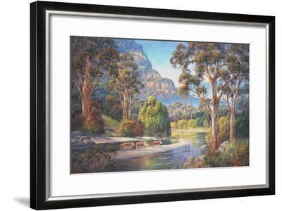 Wollondilly Autumn-John Bradley-Framed Giclee Print