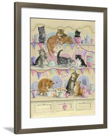Kittens on Dresser-Janet Pidoux-Framed Giclee Print