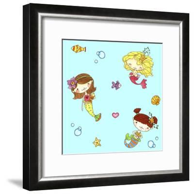 Mermaids-Jennifer Nilsson-Framed Giclee Print