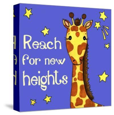 New Heights Giraffe-Jennifer Nilsson-Stretched Canvas Print