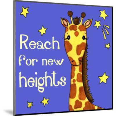 New Heights Giraffe-Jennifer Nilsson-Mounted Giclee Print
