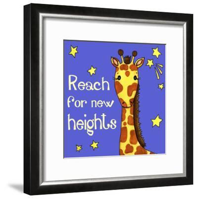 New Heights Giraffe-Jennifer Nilsson-Framed Giclee Print