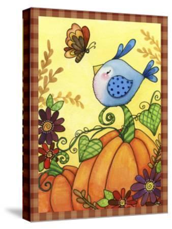 Pumpkin Bird-Jennifer Nilsson-Stretched Canvas Print