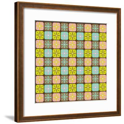 Geometric Floral Box-Joanne Paynter Design-Framed Giclee Print