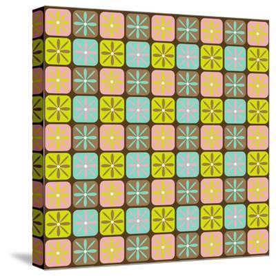 Geometric Floral Box-Joanne Paynter Design-Stretched Canvas Print