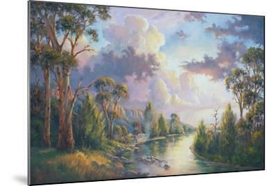 After the Rain - Kangaroo Valley-John Bradley-Mounted Giclee Print