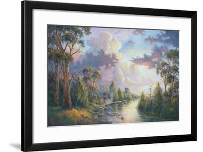 After the Rain - Kangaroo Valley-John Bradley-Framed Giclee Print