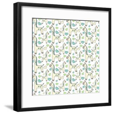 Lullaby Giraffe-Joanne Paynter Design-Framed Giclee Print