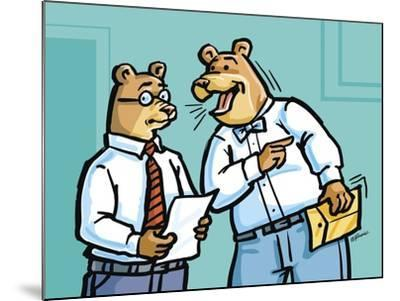 Office Bears-Jerry Gonzalez-Mounted Giclee Print