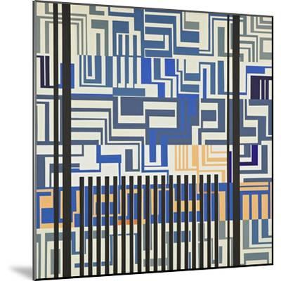 Abstract-Manuel Ros-Mounted Giclee Print