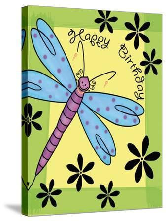 Purplefly-Maria Trad-Stretched Canvas Print